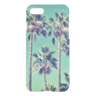 Tropical Vintage Palms against a Teal Sky iPhone 7 Case