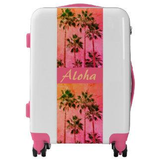 Tropical Vintage Palms Aloha Girly Luggage