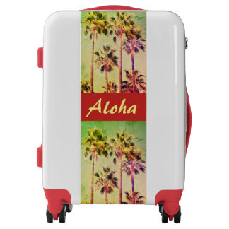 Tropical Vintage Palms Aloha Luggage