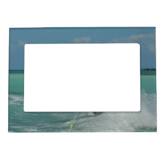 Tropical Wakeboarding Magnetic Picture Frame