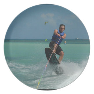 Tropical Wakeboarding Party Plate