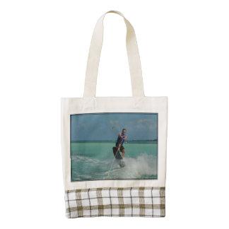 Tropical Wakeboarding Zazzle HEART Tote Bag