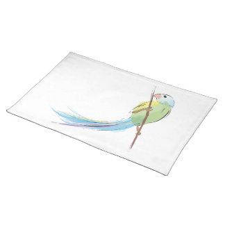 Tropical watercolor bird place mat