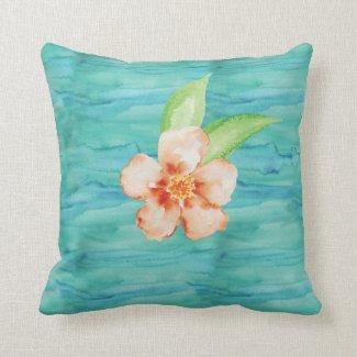 Tropical watercolor cushion