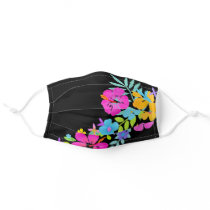 Tropical Watercolor Flowers Adult Cloth Face Mask