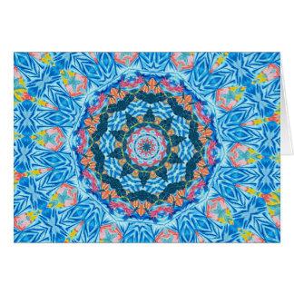 Tropical Watercolor kaleidoscope Greeting Card