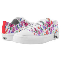 Tropical Watercolor Pattern Low-Top Sneakers