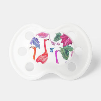 Tropical Watercolor Pattern Pacifier