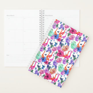Tropical Watercolor Pattern Planner