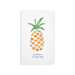 Tropical Watercolor Pineapple Personalized Journal