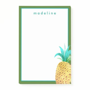 Beach Themed Tropical | Watercolor Pineapple Post-it Notes