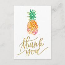 tropical watercolor pineapple thank you