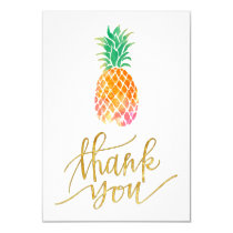 tropical watercolor pineapple thank you card