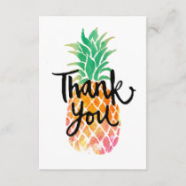 tropical watercolor pineapple thank you script