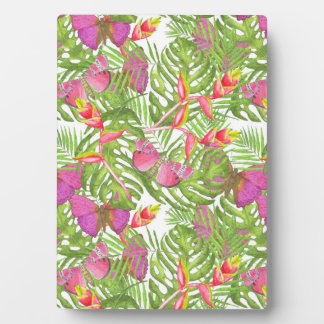 Tropical Watercolor Plaque