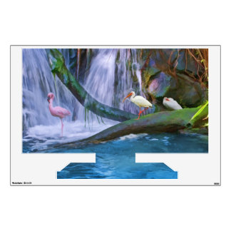 Tropical Waterfall, Birds, Wall Decal