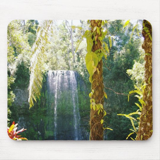 tropical waterfall mouse mat