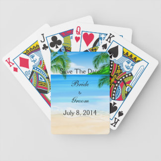 Tropical Waters Beach Wedding Save The Date Deck Of Cards