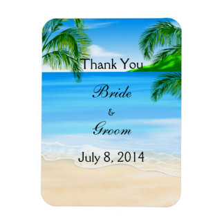 Tropical Waters Beach Wedding Thank You Magnet