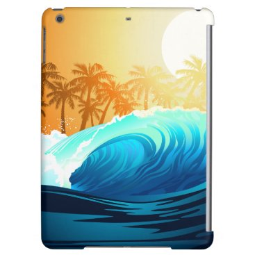 Beach Themed Tropical wave at sunrise cover for iPad air