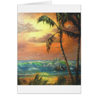Tropical Wave Card