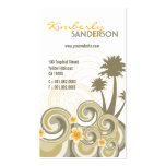 Tropical Waves Hibiscus Beach Summer Palm Trees Double-Sided Standard Business Cards (Pack Of 100)