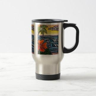 Tropical Waves Travel Mug