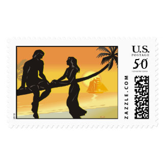 Tropical Wedding 2016 Postage