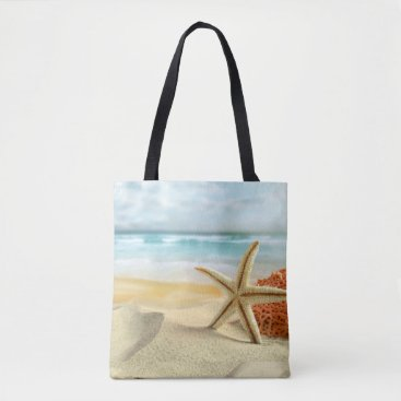 Tropical Wedding Beach Scene Tote Bag