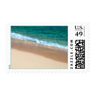 Tropical Wedding Beautiful Scenic Beach RSVP Postage
