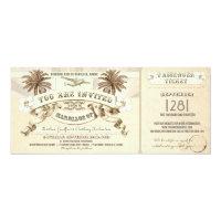 TROPICAL wedding boarding pass tickets invitations (<em>$2.57</em>)