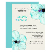 Tropical Wedding Breakfast Hibiscus Invitation