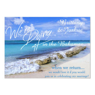 Tropical Wedding Doing it in the Bahamas Invitatio Card