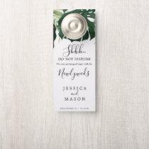 Tropical Wedding Door Hanger Do Not Disturb