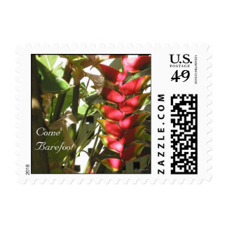 Tropical Wedding Flowers Small Postage