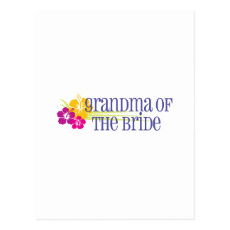 Tropical Wedding Grandma of the Bride Postcard
