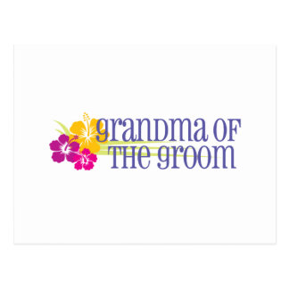Tropical Wedding Grandma of the Groom Postcard