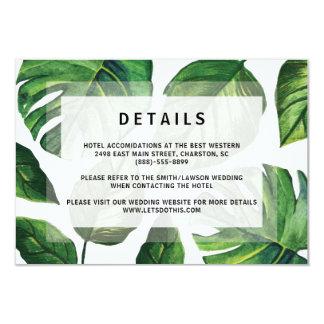 Tropical Wedding Invitation, Beach Wedding Card, Card