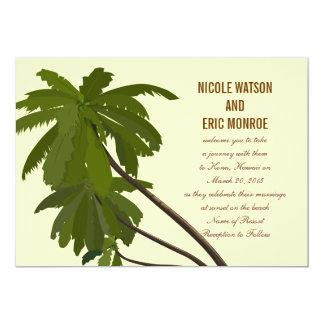 Tropical Wedding Invitation Palm Trees