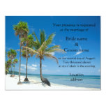 Tropical Wedding Invitations or beach party