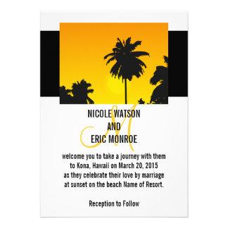 Tropical Wedding Invitations Palm Trees