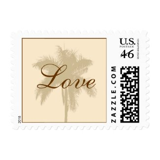 Tropical Wedding Love Postage Stamp