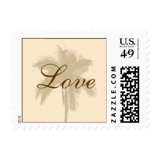 Tropical Wedding Love Postage Stamp