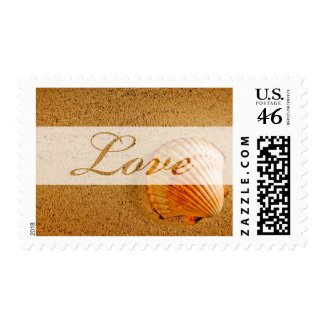 Tropical Wedding Postage Stamp