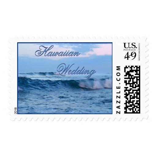 Tropical Wedding Postage Stamp; Hawaiian Wedding S