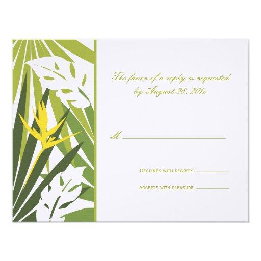 Tropical Wedding RSVP Card Invitation