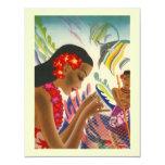 "Tropical Wedding Save The Date Luau Announcements 4.25"" X 5.5"" Invitation Card"