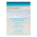 Tropical Wedding Themed Reception Only Invitations