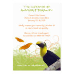 Tropical Wedding Travel Information Card Large Business Card