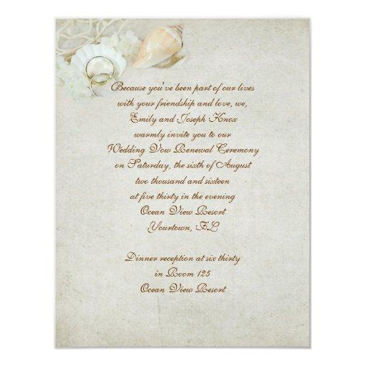 Tropical Wedding Vow Renewal Card Zazzle